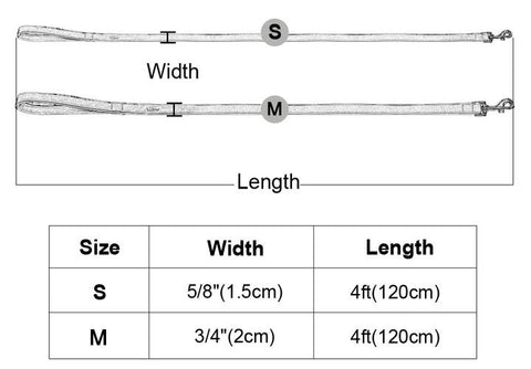 leather leash sizing guide