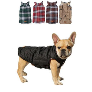 Reversible Plaid Dog Coat