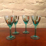Blue Glass Cordial Set