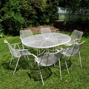 Russell Woodard Sculptura Outdoor Patio Dining Set