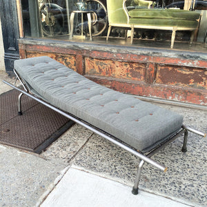 Tubular Steel Chaise Lounge