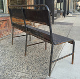 Black Navy Ship Bench