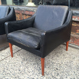 Danish Leather Lounge Chairs