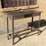 Brushed Steel Work Table