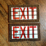 Caged Exit Signs