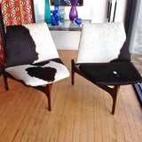John Keal Cowhide Lounge Chairs