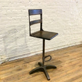 Custom Maple Pedestal Drafting Stool