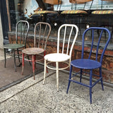 French Metal Café Chairs