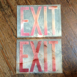 Frosted Glass Exit Signs