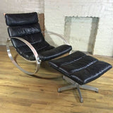 Hans Kaufeld Rocking Chair And Ottoman