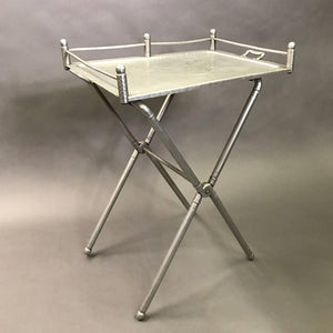 Brushed Aluminum Tray Table