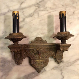 Art Deco Cast Metal Sconces