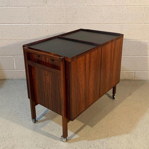 Danish Modern Rosewood Dry Bar Cart by Niels Erik Glasdam Jensen