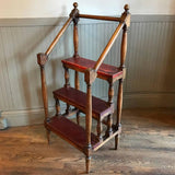 Maple and Leather Library Ladder