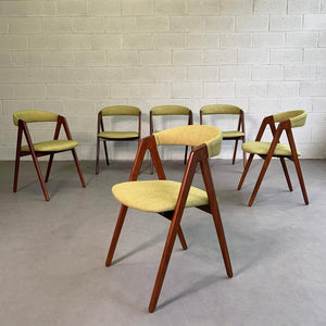 Danish Modern Teak Compass Dining Chairs By Kai Kristiansen