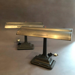 Steel Banker Desk Lamps