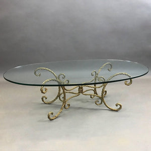 Braided Gilt Rope Coffee Table