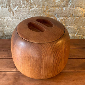 Danish Modern Teak Ice Bucket By Dansk