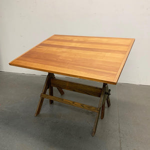 Industrial Fir Drafting Table