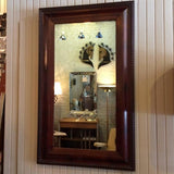 Antique Carved Mahogany Picture Frame Mirror