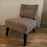 Custom Hollywood Regency Style Slipper Chair