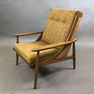 Italian High Back Lounge Chair