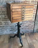 Oak Flat File Pedestal