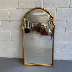 Hollywood Regency Moroccan Gilt Wood Frame Wall Mirror