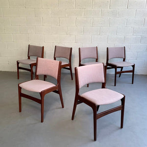Danish Modern Teak Dining Chair Set By Henning Kjaernulf