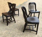 Ebonized Bank Of England  Side Chairs