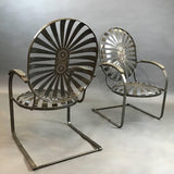 Brushed Francois Carre Chairs