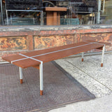 Teak and Aluminum Coffee Table