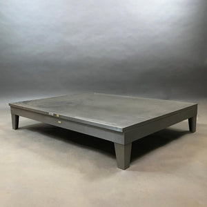 Low Industrial Brushed Steel Coffee Table By Steel Age
