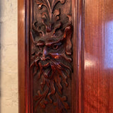 Antique Carved Mahogany Panels
