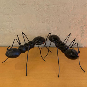 Large Enameled Metal Ant Sculptures