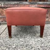 Tufted Leather Ottoman