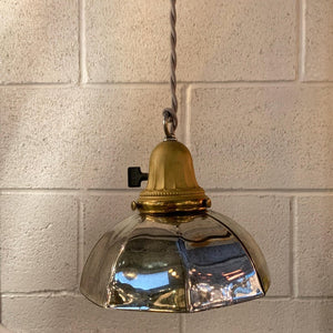 Industrial Silver Mercury Glass Pendant Light