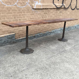 Walnut and Cast Iron Console