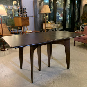 Heywood Wakefield Ebonized Maple Gate Fold Dining Table