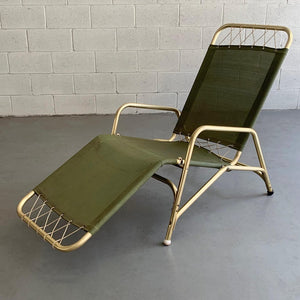 Art Deco Folding Aluminum Lounge Chair By The Troy Sunshade Company