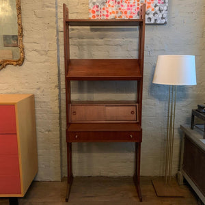 Mid Century Modern Shelf Unit Pull-Out Desk