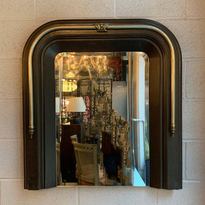 Neoclassical Cast Iron and Brass Wall Mirror