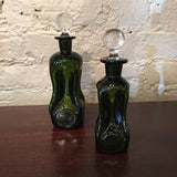 Green Glass Perfume Bottles