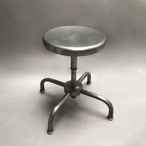 Industrial 4 Prong Brushed Steel Swivel Stools