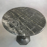 Black Marble Bistro Table