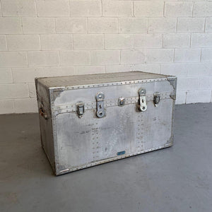 Large Industrial Aluminum Military Trunk