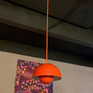 Verner Panton Orange Flower Pot Pendant Light, Louis Poulsen