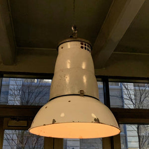 Large Rustic Industrial Factory Pendant Light