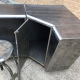 Brushed Steel Corner Desk