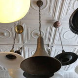 Tapered Gunmetal Pendant Light